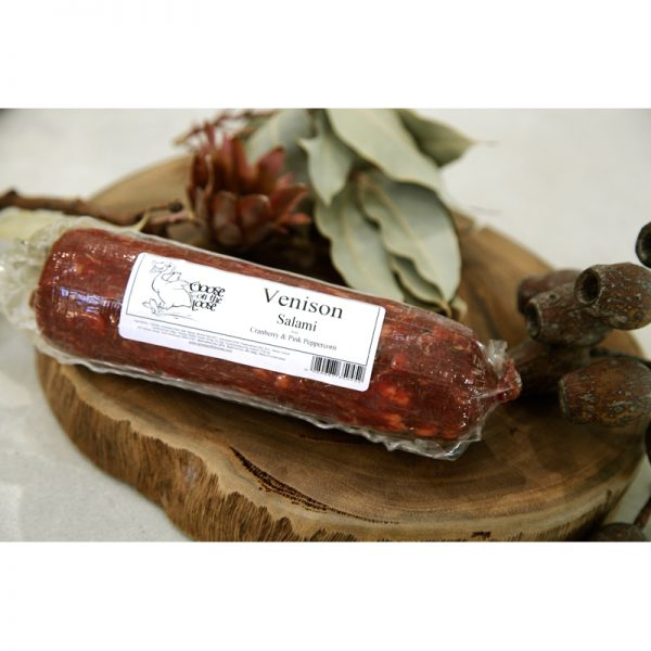 Venison Salami with Cranberry and Pink Peppercorn