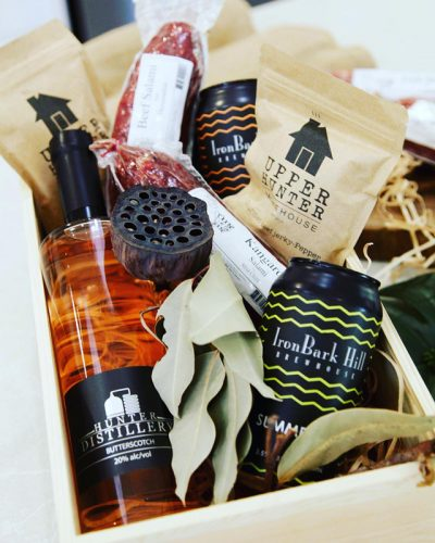 Hunter Valley products in delicious hamper