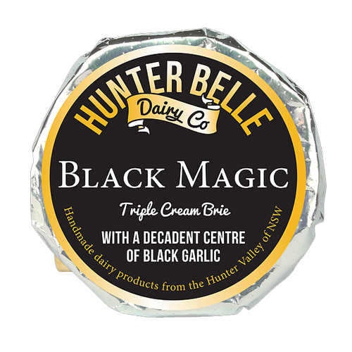 HUnter Belle Cheese Black Magic triple Cream Brie