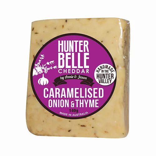 Hunter Belle Cheese Caramelised Onion and Thyme cheddar